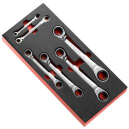 FACOM Inch straight ratchet ring wrenches in foam module - 1