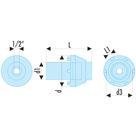 FACOM Socket for hubs on Mercedes Sprinter utility vehicle - 2