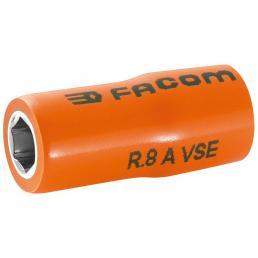 "FACOM R.AVSE - VSE series 1,000 Volt insulated 6-point 1/4"" sockets - 1"