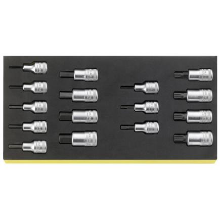 """STAHLWILLE 1/2"""" sockets in TCS inlay - 1"""