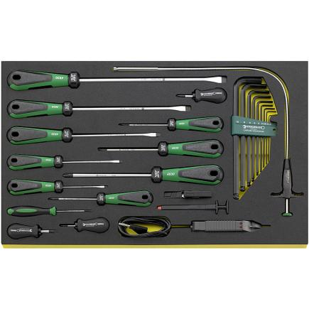 STAHLWILLE DRALL set of screwdrivers 24 pcs. in TCS inlay - 1