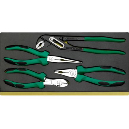 STAHLWILLE TCS 6501–6602/4 Set of pliers in TCS inlay - 1