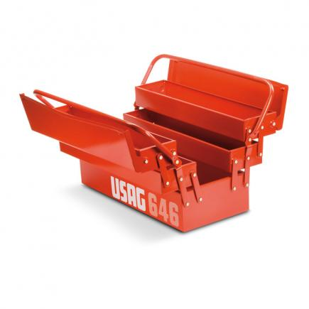 USAG Long cantilever tool boxes, five compartments (empty) - 1