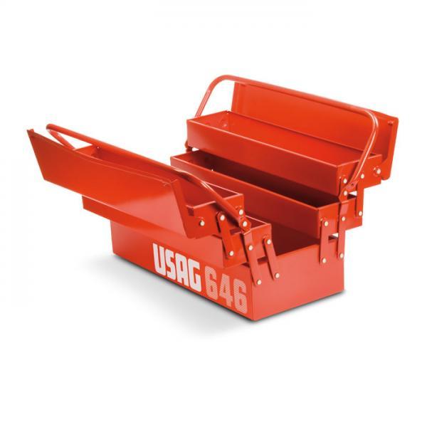 USAG U06010003 USAG U06010001 Pack de 34 piezas surtido de vasos hexagonales y puntas en caja modular Pack de 22 piezas surtido de vasos hexagonales en caja modular
