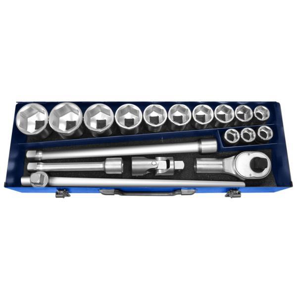 "EXPERT E194683 - 3/4"" 6 point sockets Metric 18 pieces - 1"