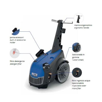 ANNOVI REVERBERI AR 970  Professional electric cold water high pressure washer 200 bar, 900 l/h, 7400W - 1