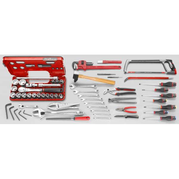 FACOM Set CM.AG4 with 5 compartment toolbox BT.13A (58 pcs) - 1