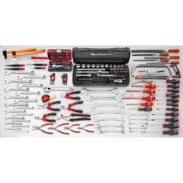 FACOM Set CM.130A with 6 drawer roller cabinet JET.6GM3 (169 pcs) - 1