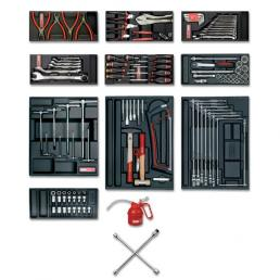 USAG Roller cabinet with assortment 495 A2 for car repair (120 pcs.) - 1