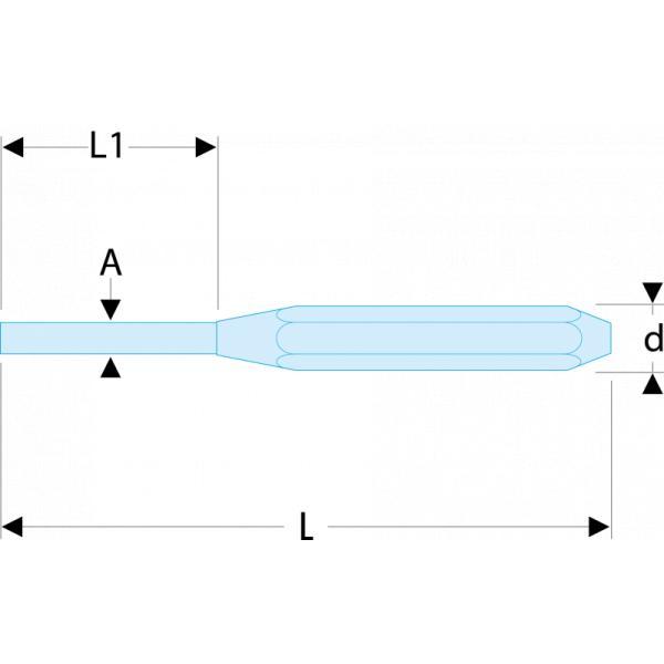 FACOM 249  Standard drift punches  RFID - 1