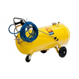 MECLUBE Polished steel pressure sprayer 100 l With foaming device - 1