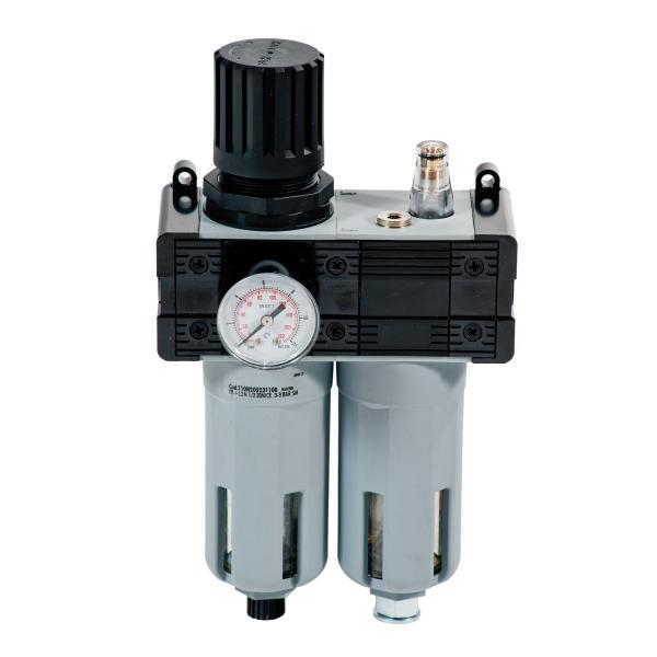 "MECLUBE 014-1048-B00 - Pressure regulator with filter, lubricator and gauge Inlet – outlet connection F 1/2"" - 1"