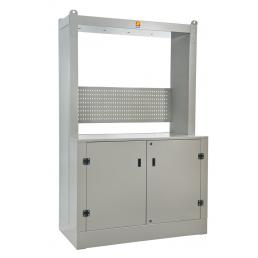 MECLUBE Frame cabinet for oil distribution Dimensions 1600X700 H 2500 mm - 1
