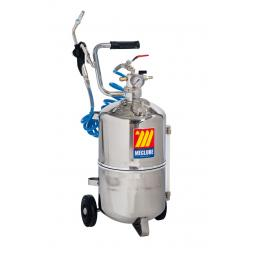 MECLUBE 24 l pneumatic oil dispenser stainless steel Drop valve Ø12 mm - 1