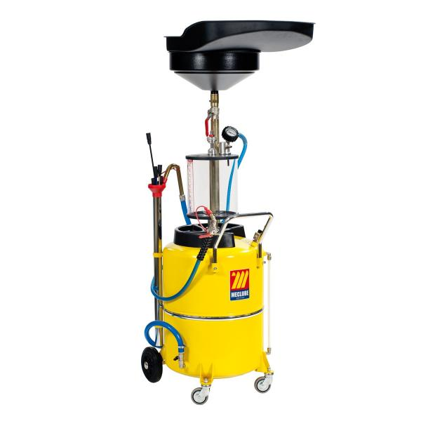 MECLUBE 040-1448-000 - Air operated suction drainer for exhausted oil 120 l with pre chamber - 1