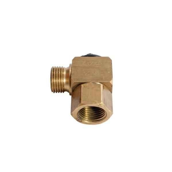 "MECLUBE 079-1770-004 - Swivelling joint 90° AIR WATER 20 bar F 1/2""G - 1"