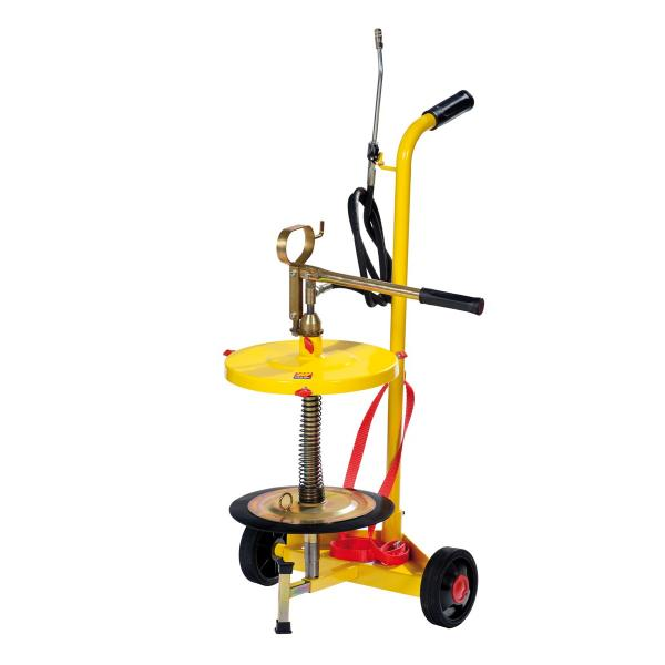 MECLUBE 016-1150-C20 - Wheeled manual grease pump for drums of 18 30 kg - 1