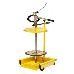 MECLUBE Wheeled manual grease pump for drums of 50 60 kg - 1