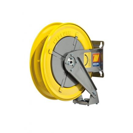 """MECLUBE Hose reel fixed FOR AIR WATER 20 bar Mod. F 400 WITHOUT HOSE Inlet Outlet M1/2""""G M1/2""""G - 1"""
