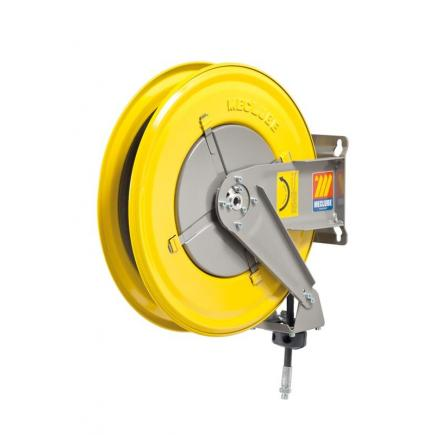 MECLUBE Hose reel fixed FOR AIR WATER 20 bar Mod. F 460 WITH HOSE R6 18 m ø 1/2 - 1