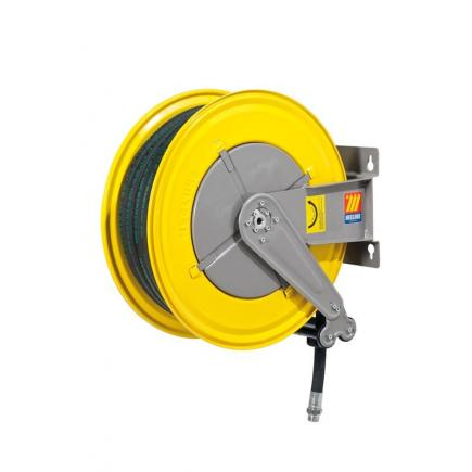 "MECLUBE Hose reel fixed FOR AIR WATER 20 bar Mod. F 555 WITH HOSE Inlet outlet F1""G  M1""G - 1"