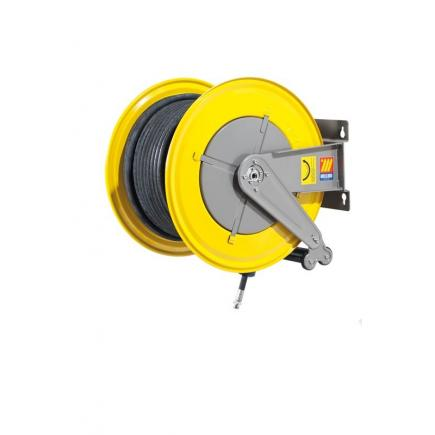 MECLUBE Hose reel fixed FOR AIR WATER 20 bar Mod. F 560 WITH HOSE R6 30 m ø 3/4 - 1