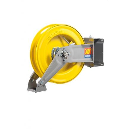 """MECLUBE Hose reel swivelling FOR AIR WATER 20 bar Mod. S 400 WITHOUT HOSE Inlet Outlet F3/8""""G M3/8""""G - 1"""