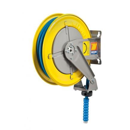 "MECLUBE Hose reel fixed FOR WATER 150° C 200 bar Mod. F 400 WITH HOSE Inlet outlet M3/8""G  F3/8""G Inlet outlet M3/8""G  F3/8""G - 1"
