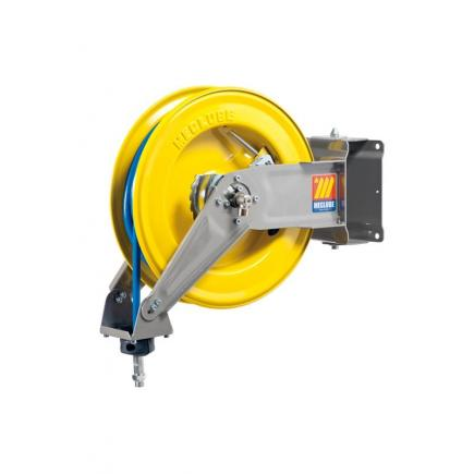 "MECLUBE Hose reel swivelling FOR AIR WATER 20 bar Mod. S 400 WITH HOSE Inlet outlet F3/8""G  M1/4""G swiv. - 1"