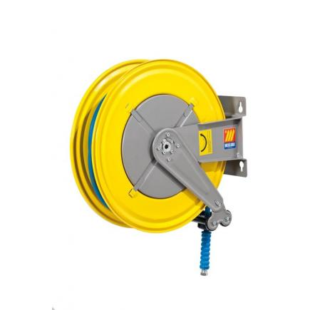 MECLUBE Hose reel fixed FOR WATER 150° C 200 bar Mod. F 550 WITH HOSE 20 m  ø 3/8 - 1