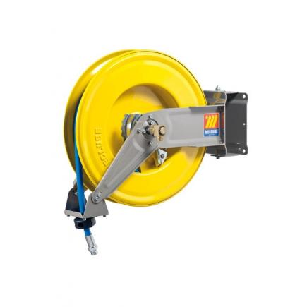MECLUBE Hose reel swivelling FOR AIR WATER 20 bar Mod. S 460 WITH HOSE 15m - 1