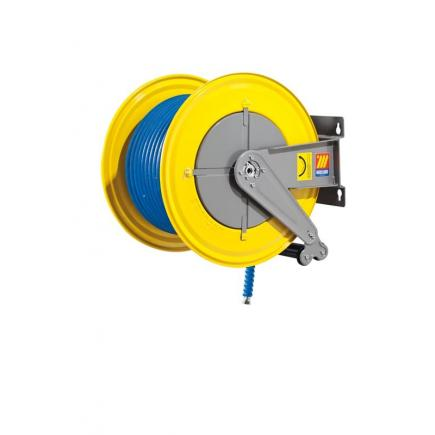 MECLUBE Hose reel fixed FOR WATER 150° C 200 bar Mod. F 560 WITH HOSE 40 m ø 1/2 - 1