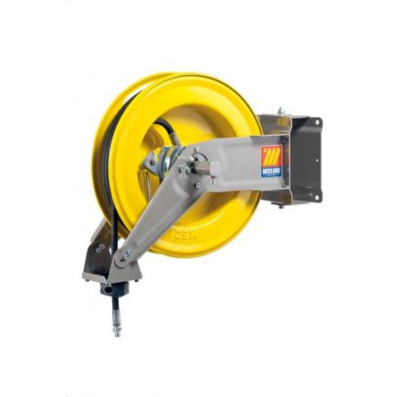"MECLUBE Hose reel swivelling FOR AIR WATER 20 bar Mod. S 400 WITH HOSE R6 12 m ø 5/16"" - 1"