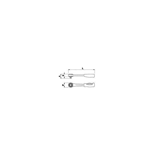 """USAG 1/4"""" Simple ratchet with sliding square drive - 1"""