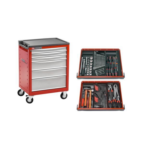 FACOM Chrono trolley 6 drawers assorted v5 - 1