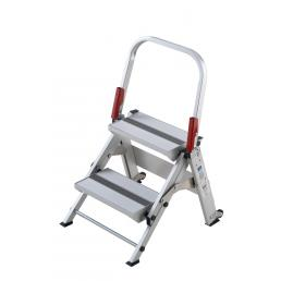 GIERRE Professional aluminium folding step, 2 steps - 1