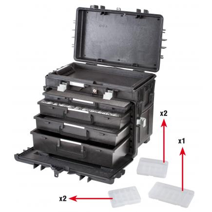 GT LINE Polypropylene tool trolley 4 drawers - 1