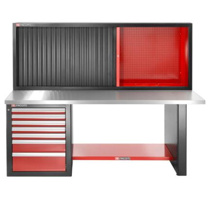 Incredible Facom Jls2 2Ms7Dscl Heavy Duty Workbench 2182 Mm 7 Drawers Stainless Steel Upper Worktop Low Version And Shutter Cabinet Ocoug Best Dining Table And Chair Ideas Images Ocougorg