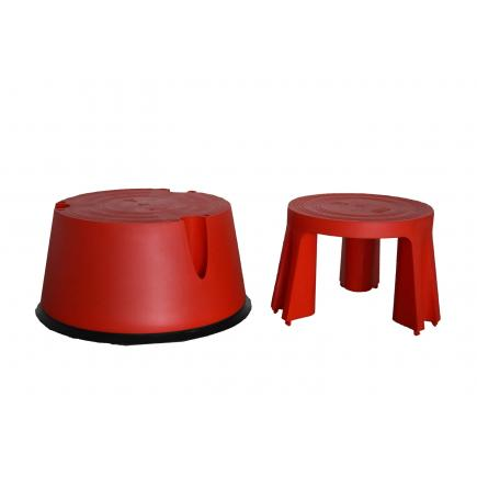 Gierre B0020 Round Plastic Step Stool Mister Worker