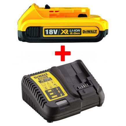 DeWALT Set battery XR 18V 2Ah and universal charger 18V - 1
