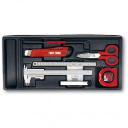 USAG 519/960 Caliper, Thickness Gauges, Scissors and Tape Rule Assortment (7 pcs.)   Mister Worker®