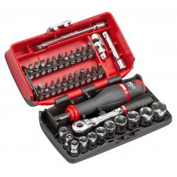 USAG 609 1/4 EBP Assortment with hexagonal sockets and bits in bimaterial box (38 pcs) | Mister Worker®