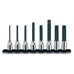 "USAG Set of 8 1/2"" socket bits for XZN screws - 1"