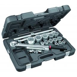 USAG 605 3/4 B Assortment with hexagonal sockets in ABS case (18 pcs) | Mister Worker®