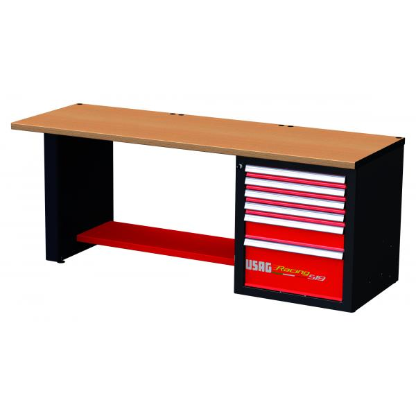 USAG RACING workbench with wooden top - 6 drawers - 1