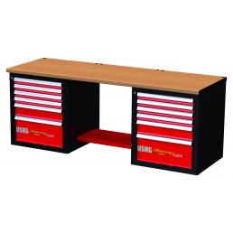USAG RACING workbench with wooden top - 12 drawers - 1