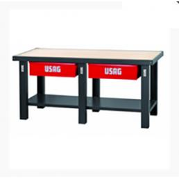 USAG Workbench with wooden top - 2 drawers - 1