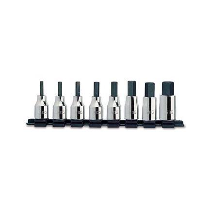 """USAG Set of 8 3/8"""" socket bits for Allen screws - 1"""
