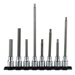 """USAG Set of 8 1/2"""" long socket bits for Allen screws - 1"""