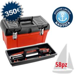 USAG 06410020E Nautical tool box for maintenance (58 pcs.) | Mister Worker®